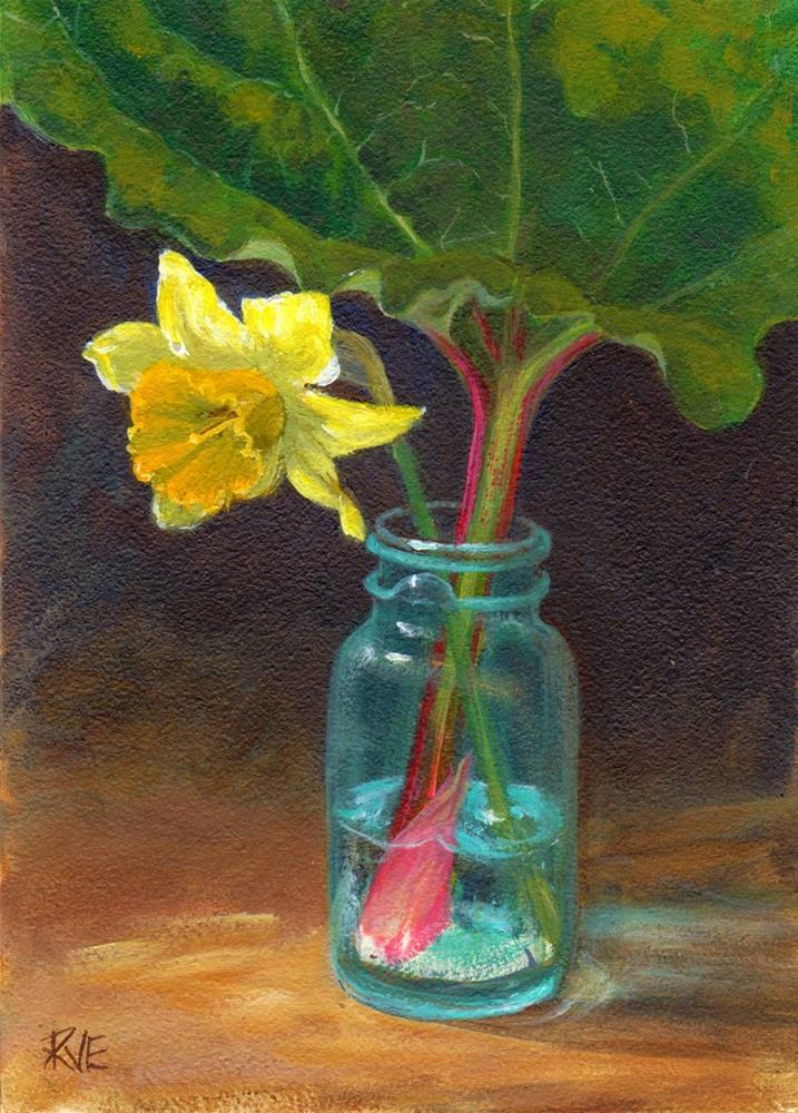 """Spring garden bounty"" original fine art by Ruth Van Egmond"