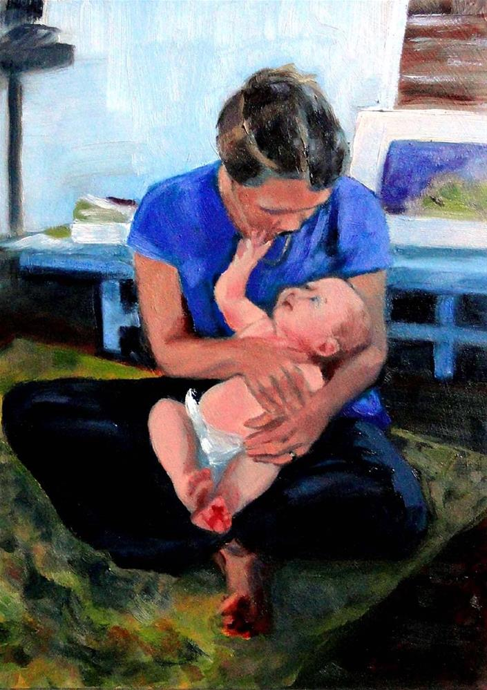 """Auntie and Baby Niece"" original fine art by Cietha Wilson"