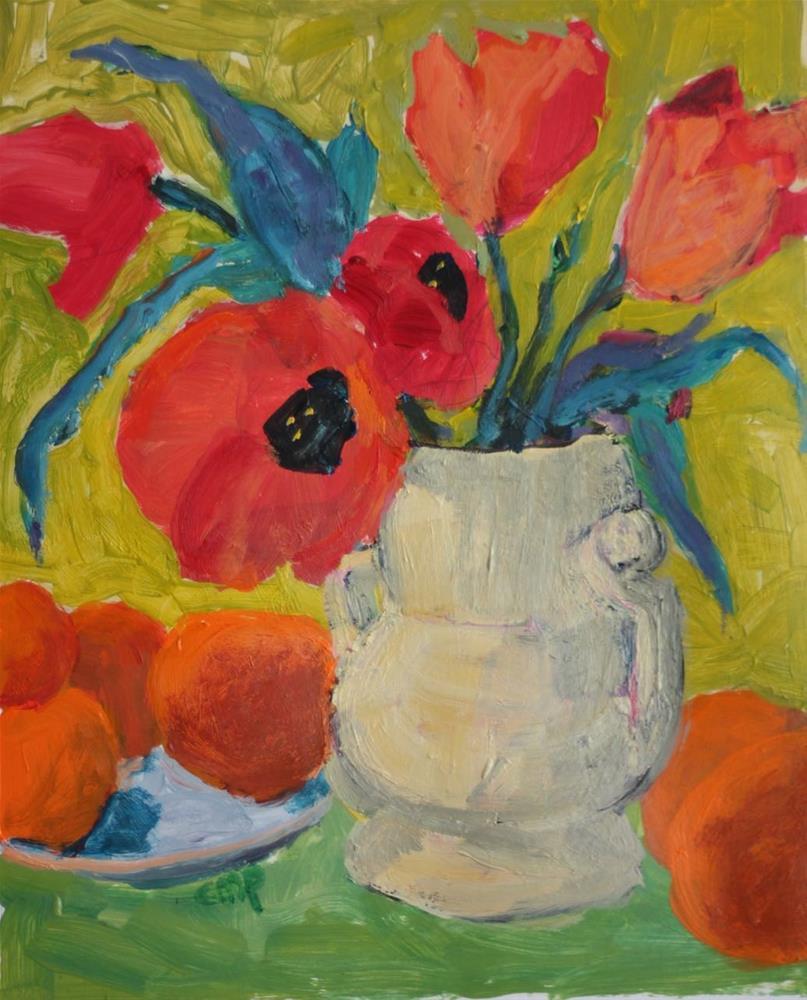 """DPW Floral Challenge 2"" original fine art by Christine Parker"