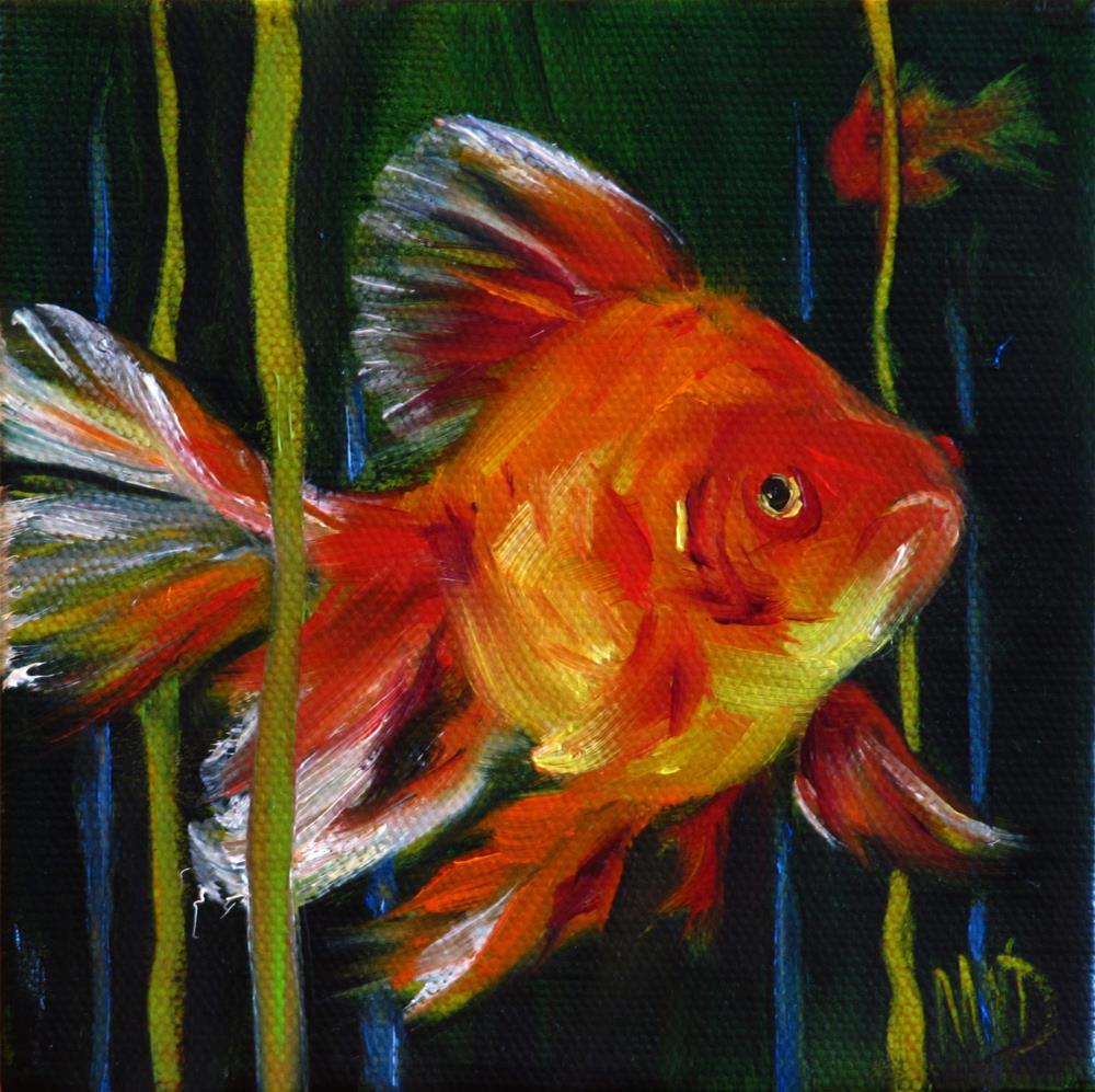 """Waterworld Gold"" original fine art by Mary  Van Deman"