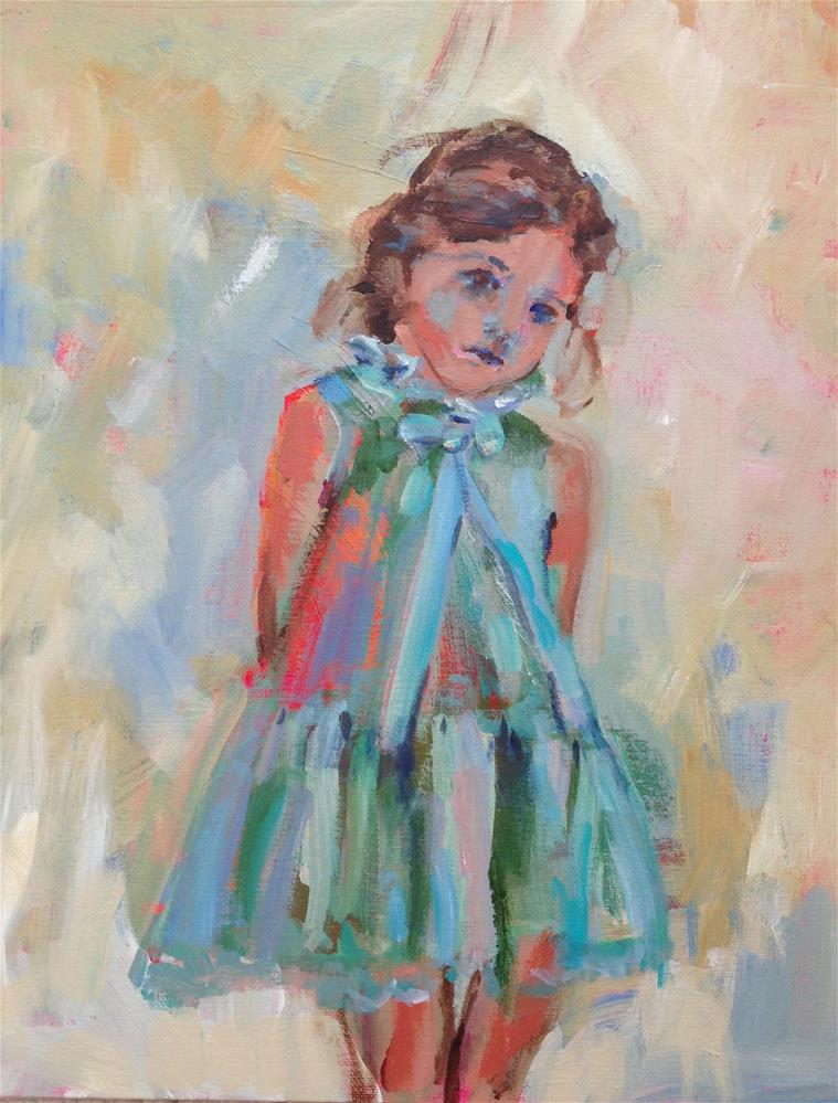 """Petit Ange"" original fine art by Molly Wright"