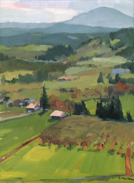 """Looking Towards the Butte"" original fine art by Sarah Sedwick"