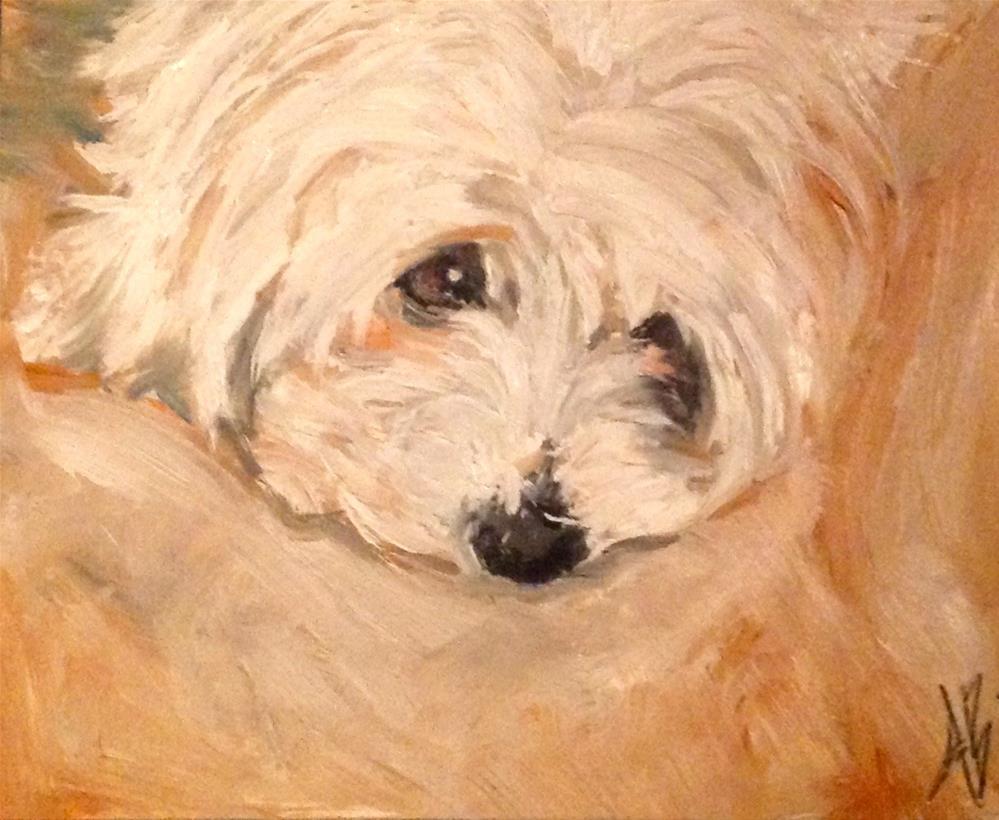 """""""Cozy feeling face"""" original fine art by Annette Balesteri"""