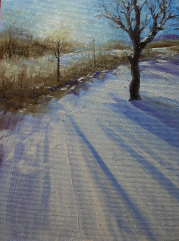 """Long Shadows"" original fine art by Jean Nelson"