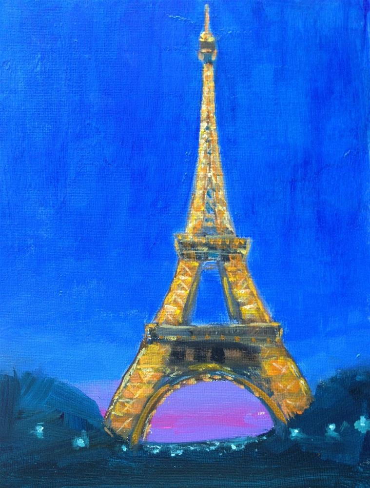 """April In Paris.... 8x10 Acrylic Painting by Kelley MacDonald"" original fine art by Kelley MacDonald"