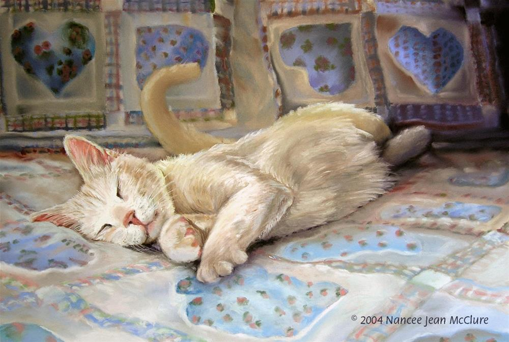 """Pastel Cat Art Painting,Feline Sweet Dreams by Colorado Artist Nancee Jean Busse"" original fine art by Nancee Busse"