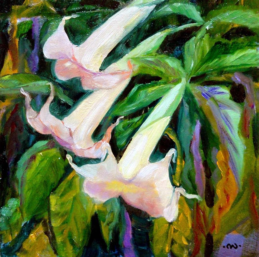 """Angels' Trumpets"" original fine art by Cietha Wilson"