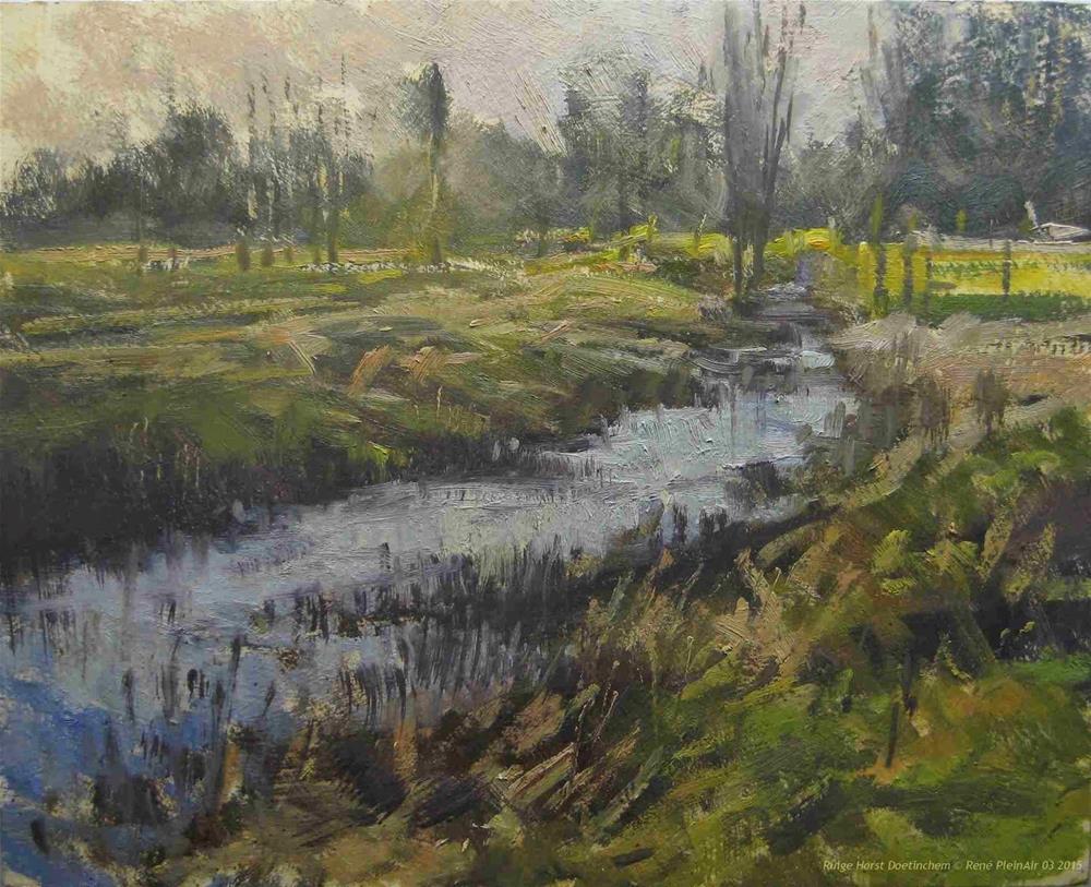 """Rough field Doetinchem, the Netherland"" original fine art by René PleinAir"