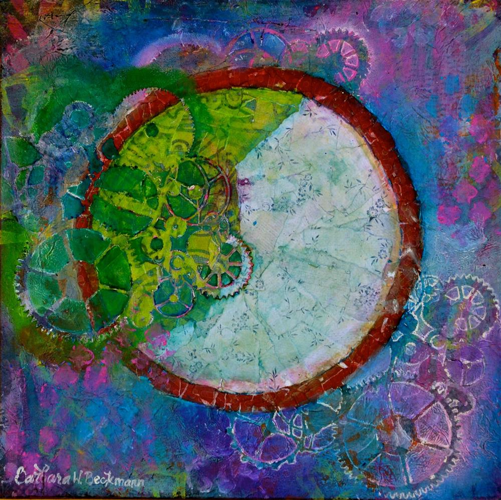 """Abstract Wheels"" original fine art by Barbara Beckmann"