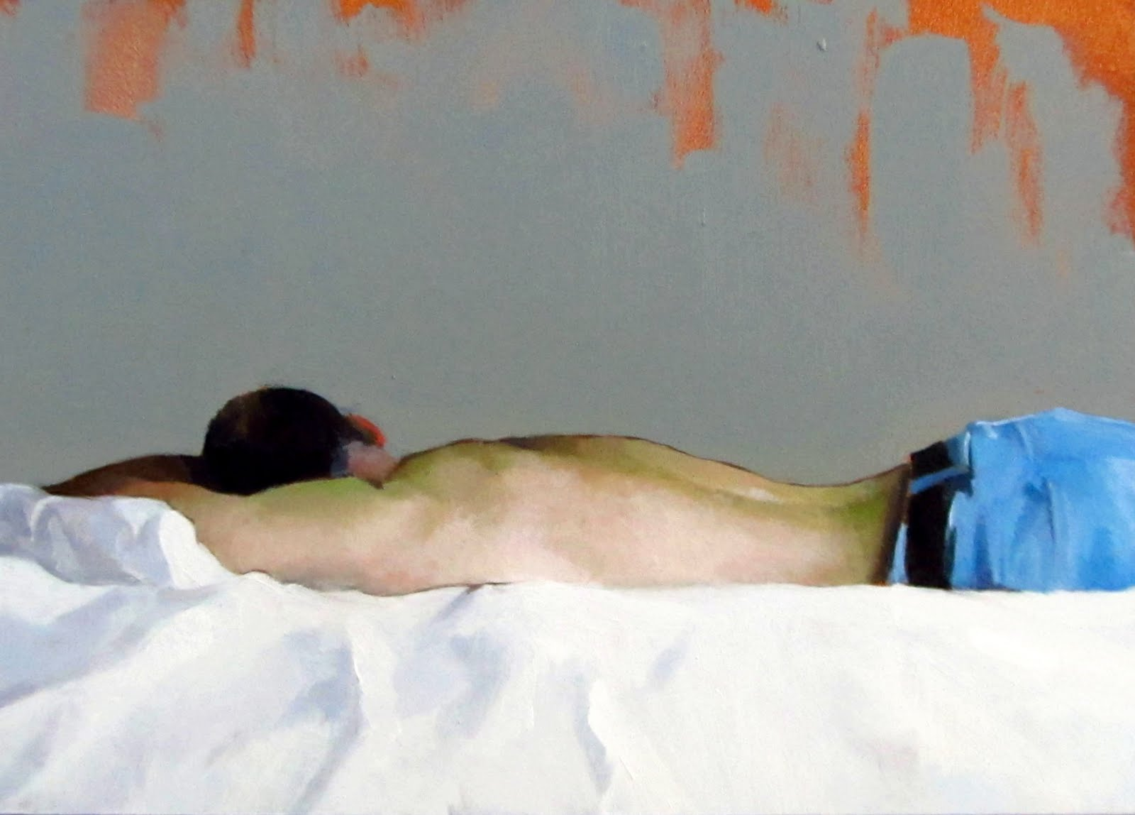 """DAILY DIAPER #220 Afternoon Repose"" original fine art by Brian Burt"