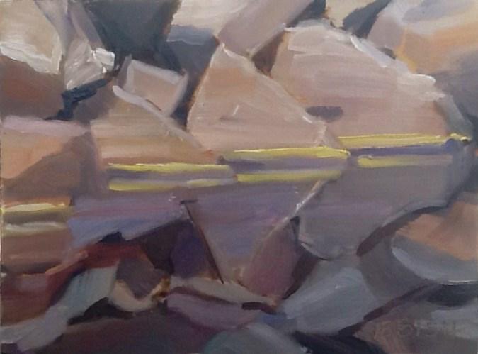 """""""When Pollen Stripes"""" original fine art by Elizabeth Bish"""