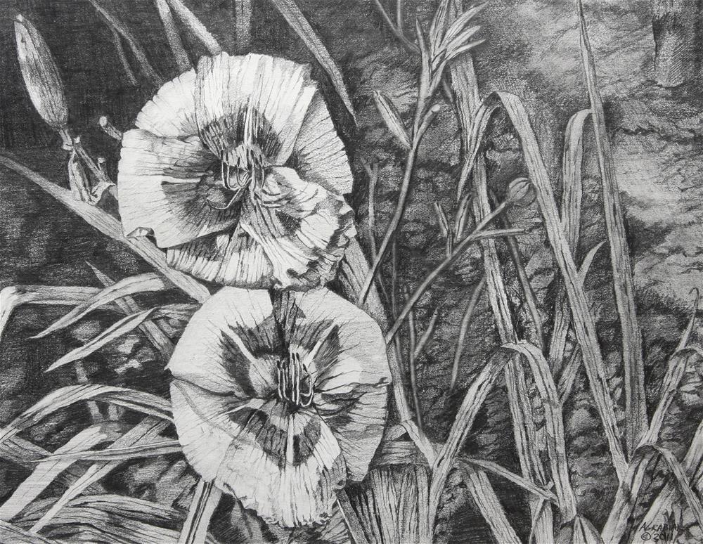 """Daylilies"" original fine art by Aaron Grabiak"