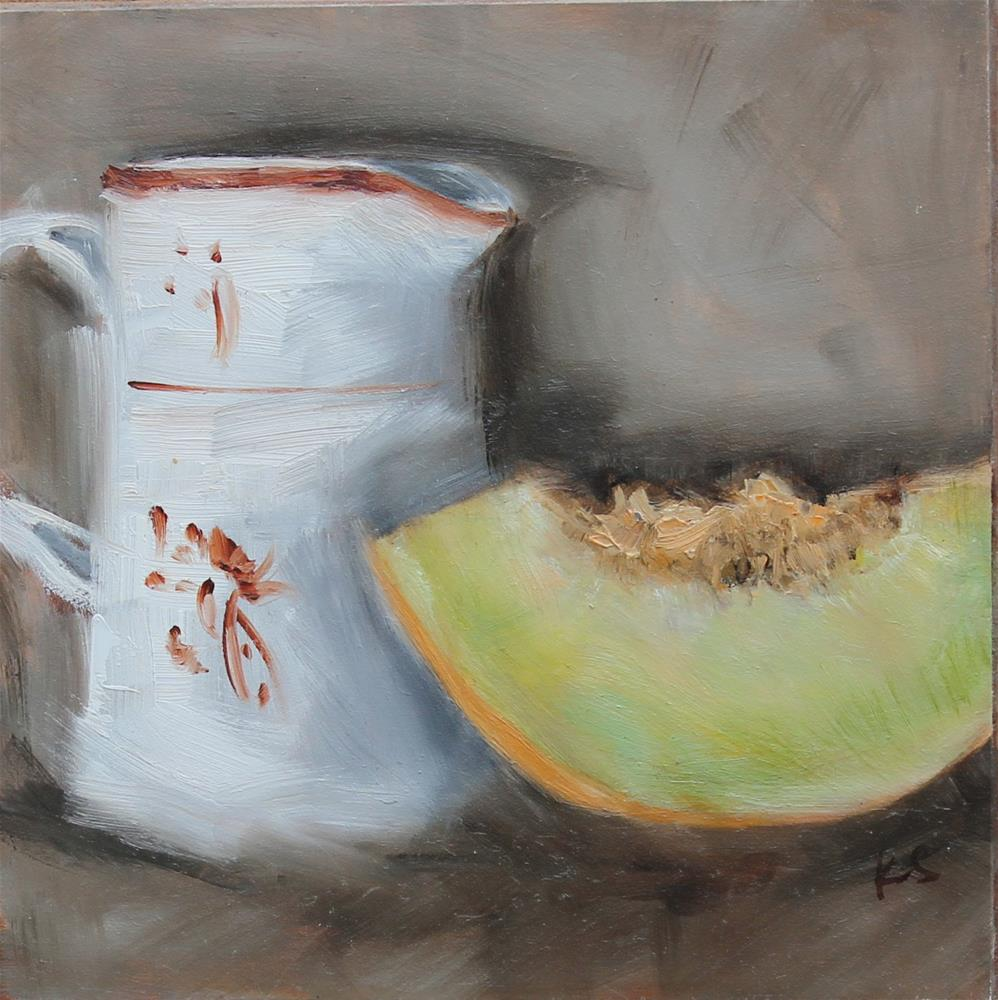 """Honeydew"" original fine art by Karen Solorzano"