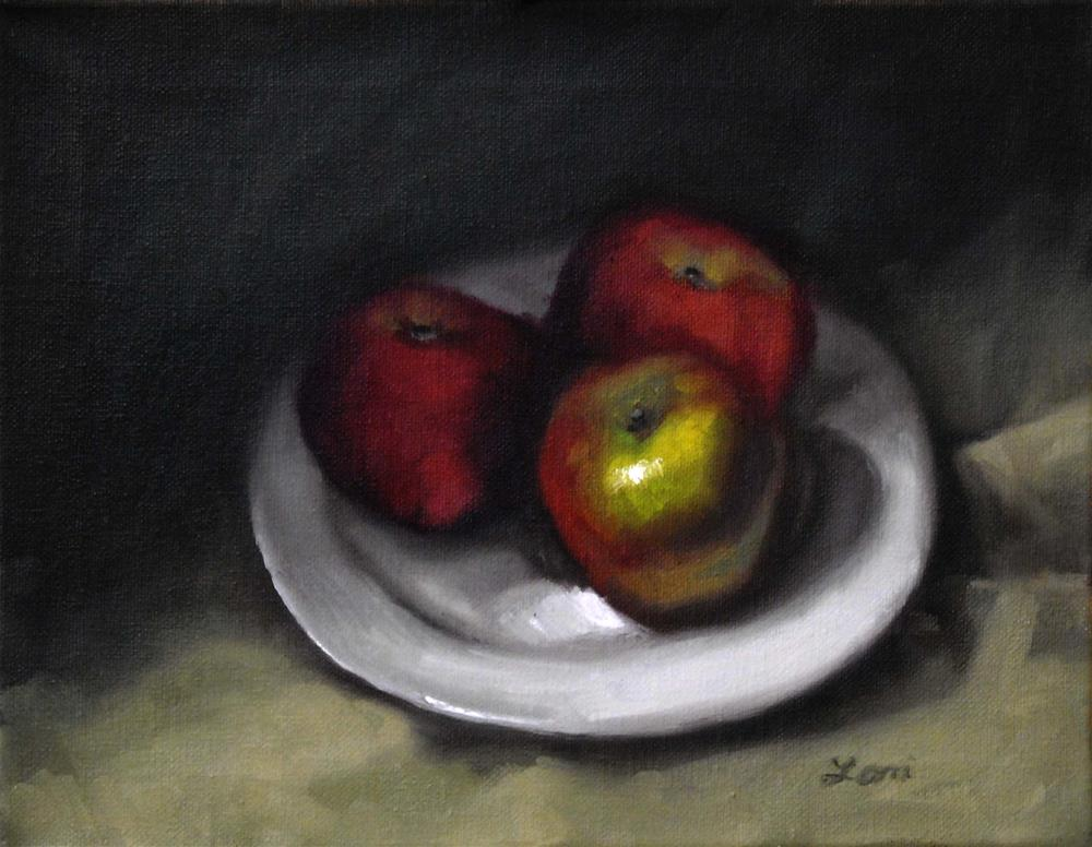 """Three Apples"" original fine art by Lori Jacobs - Farist"