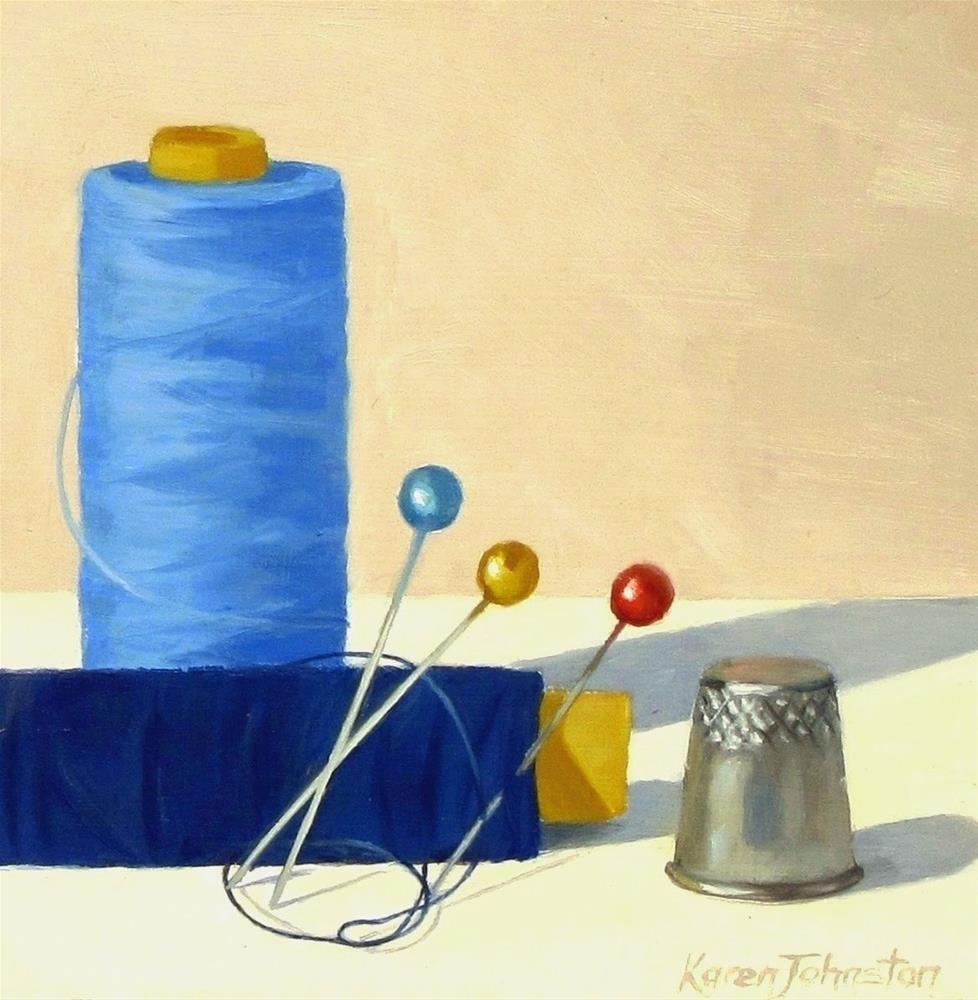 """""""Stitchin' Time"""" original fine art by Karen Johnston"""
