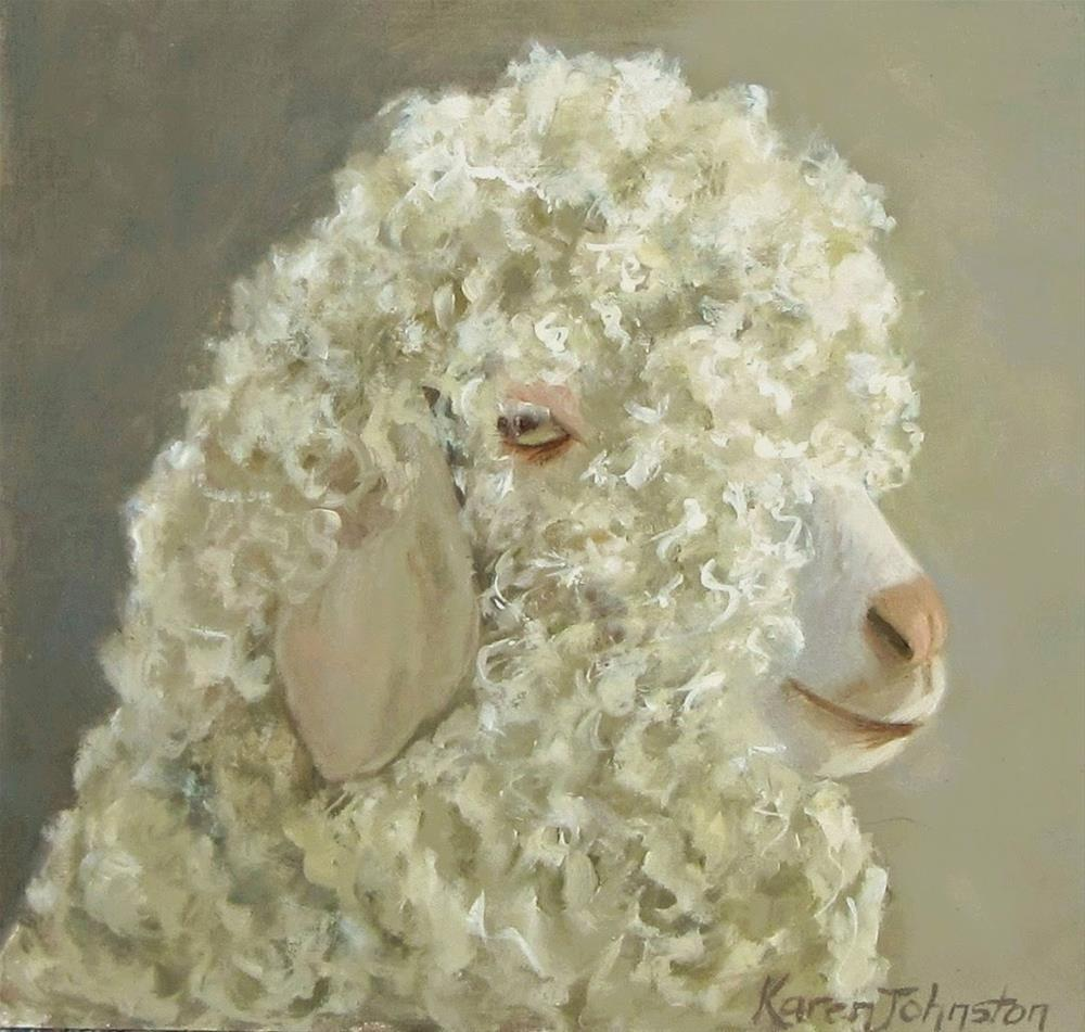 """Curly Locks"" original fine art by Karen Johnston"