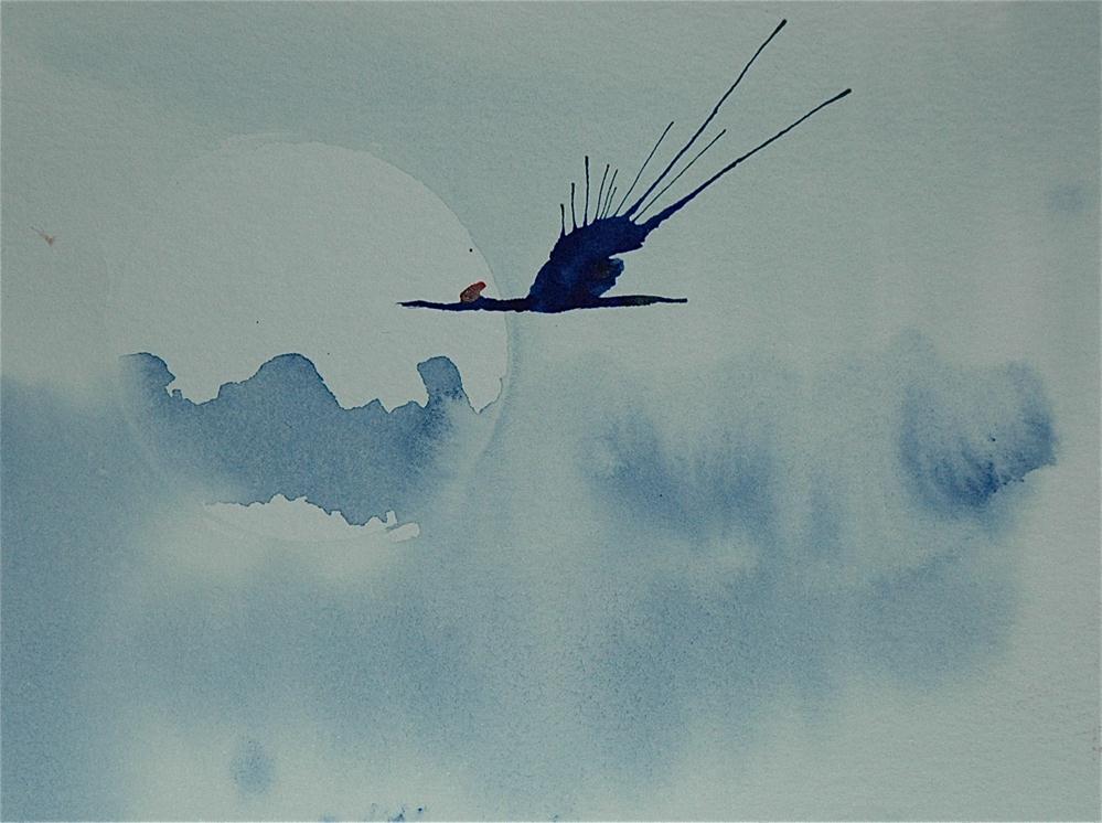 """Crane - 3"" original fine art by Ulrike Schmidt"