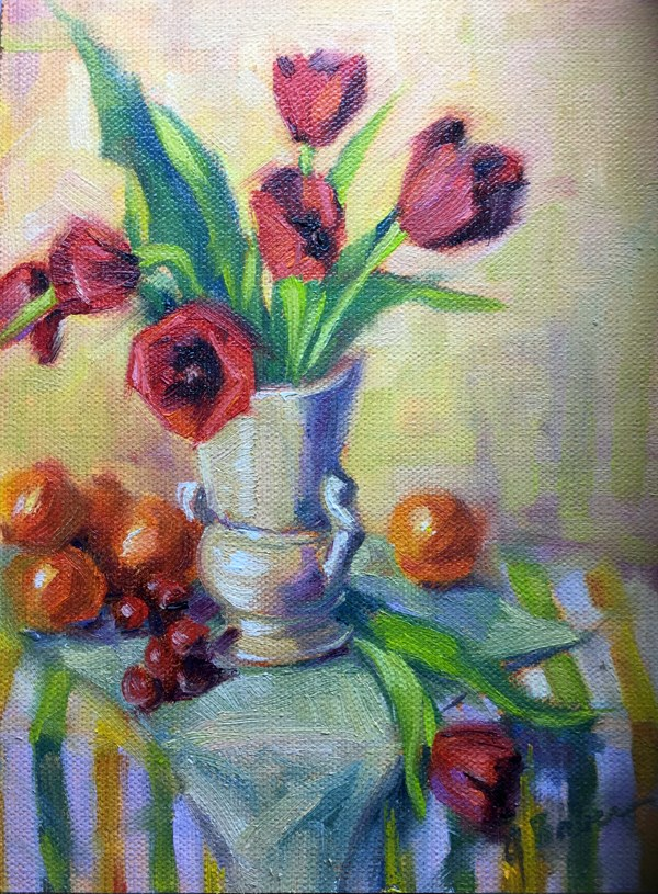 """Tulips and Tangerines"" original fine art by gabriele baber"