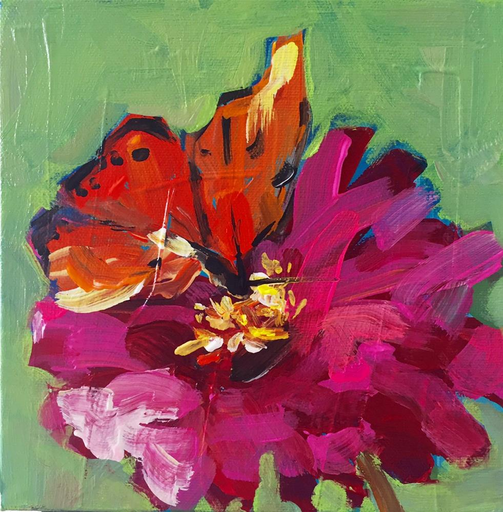 """Kissed by a Butterfly"" original fine art by Marcia Hodges"
