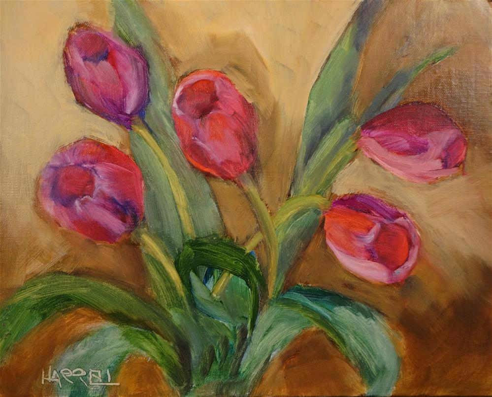 """Springtime Blooms"" original fine art by Sue Harrell"