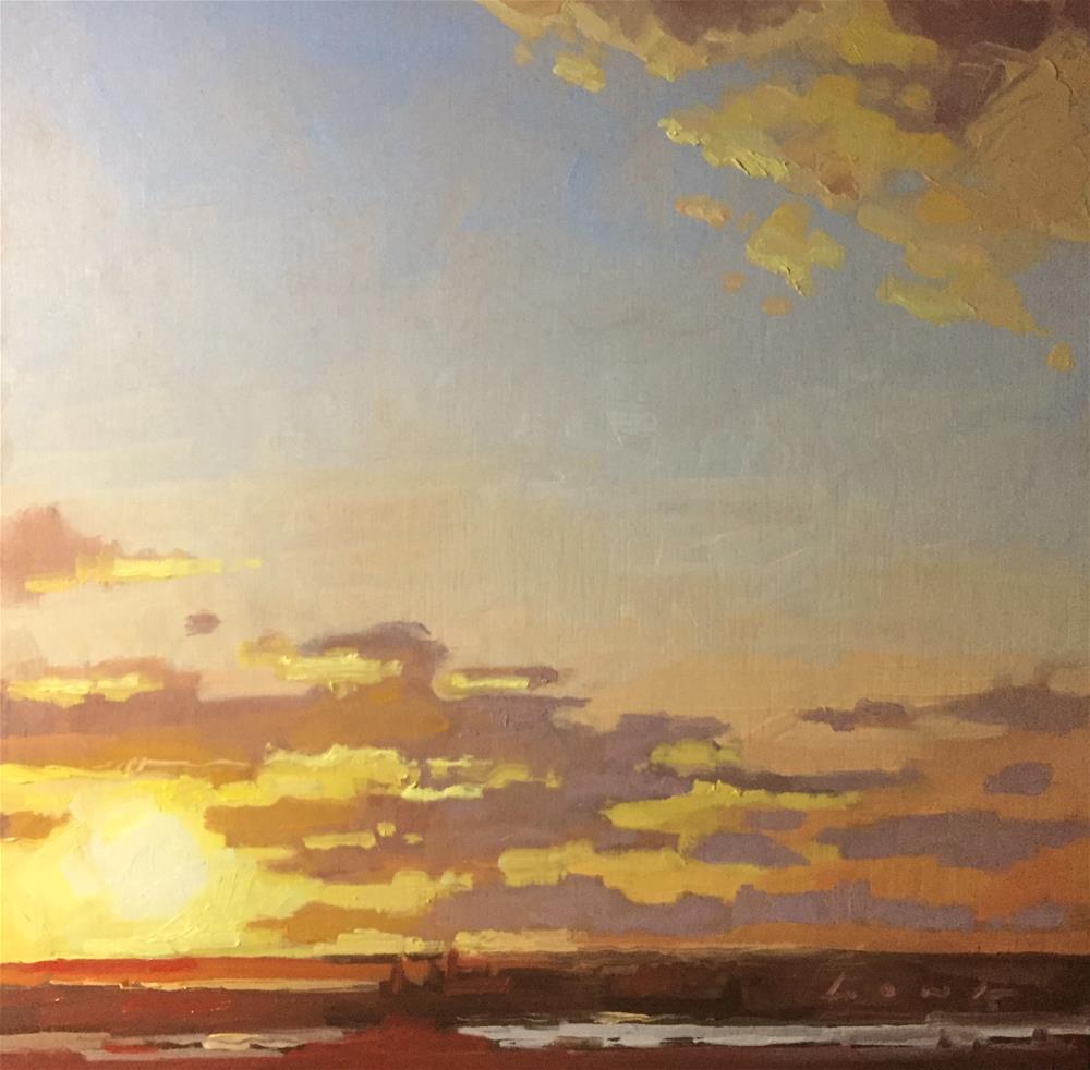 """""""Sun Up"""" original fine art by Chris Long"""