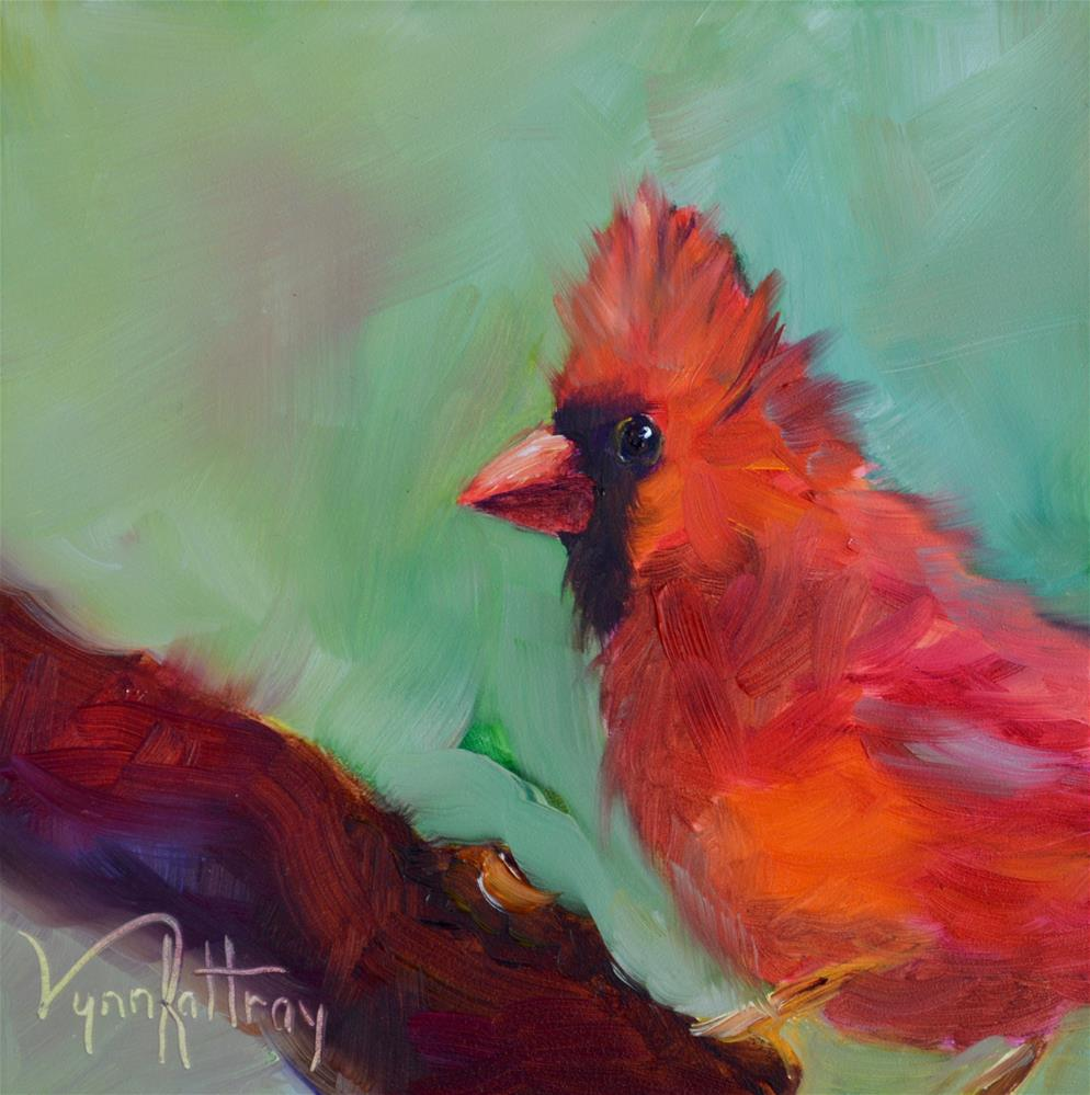 """Red"" original fine art by Lynn Rattray"