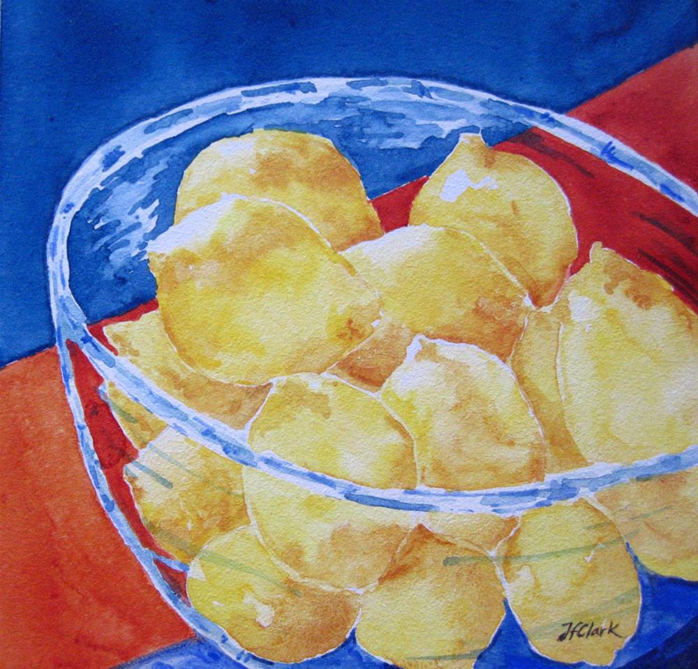 """Make Lemonade!"" original fine art by Judith Freeman Clark"