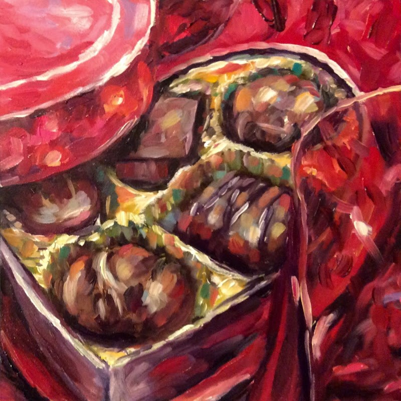 """Chocolate box"" original fine art by Kerry Forsythe"