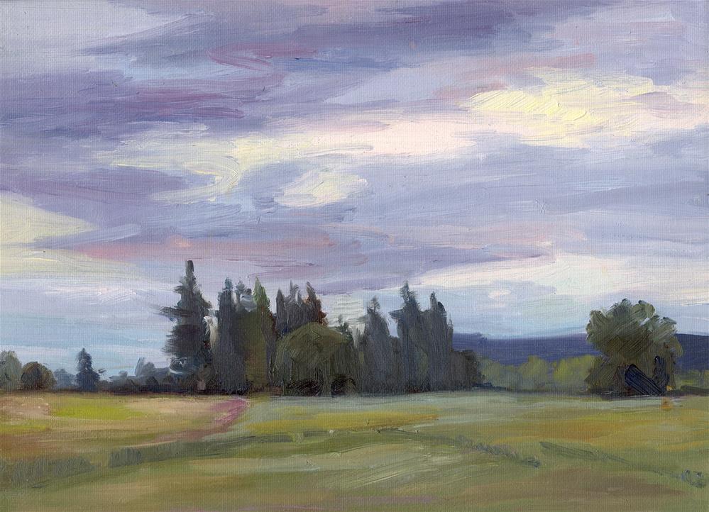 """DARK TREES"" original fine art by Karen E Lewis"