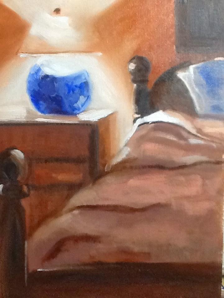 """Paint Your Bed"" original fine art by Peggy Schumm"