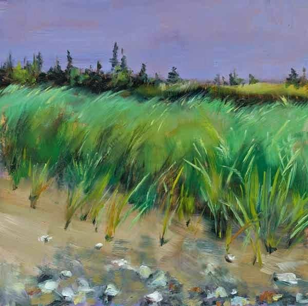 """""""St. Esprit Beach Grass"""" original fine art by Brenda Ferguson"""