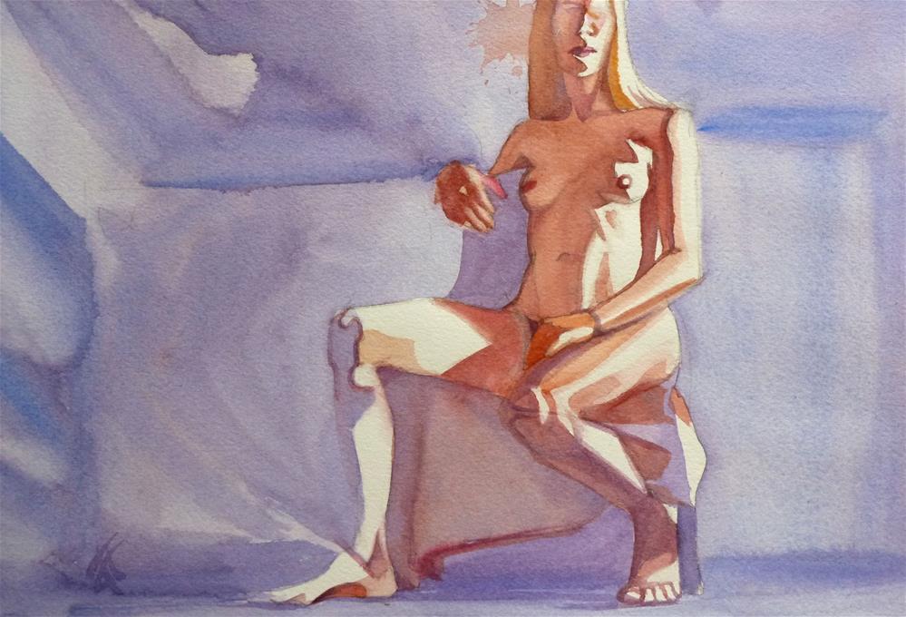 """Model w/ light background"" original fine art by Mark Allison"