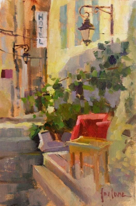"""""""Hotel"""" original fine art by Francesco Fontana"""