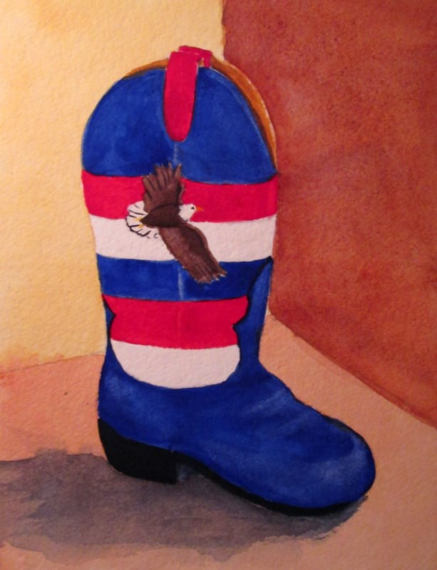 """The Patriot"" original fine art by Norm Rossignol"
