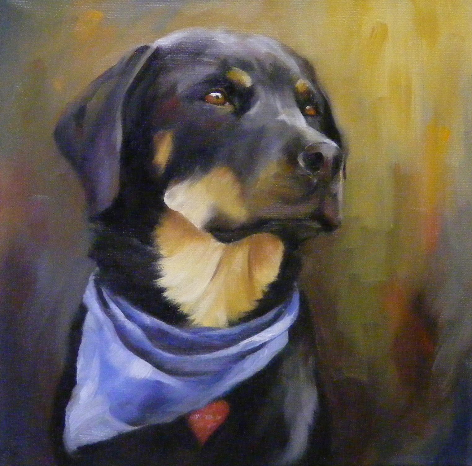 Miss Mattie, Portrait, Oil original fine art by Diana Delander