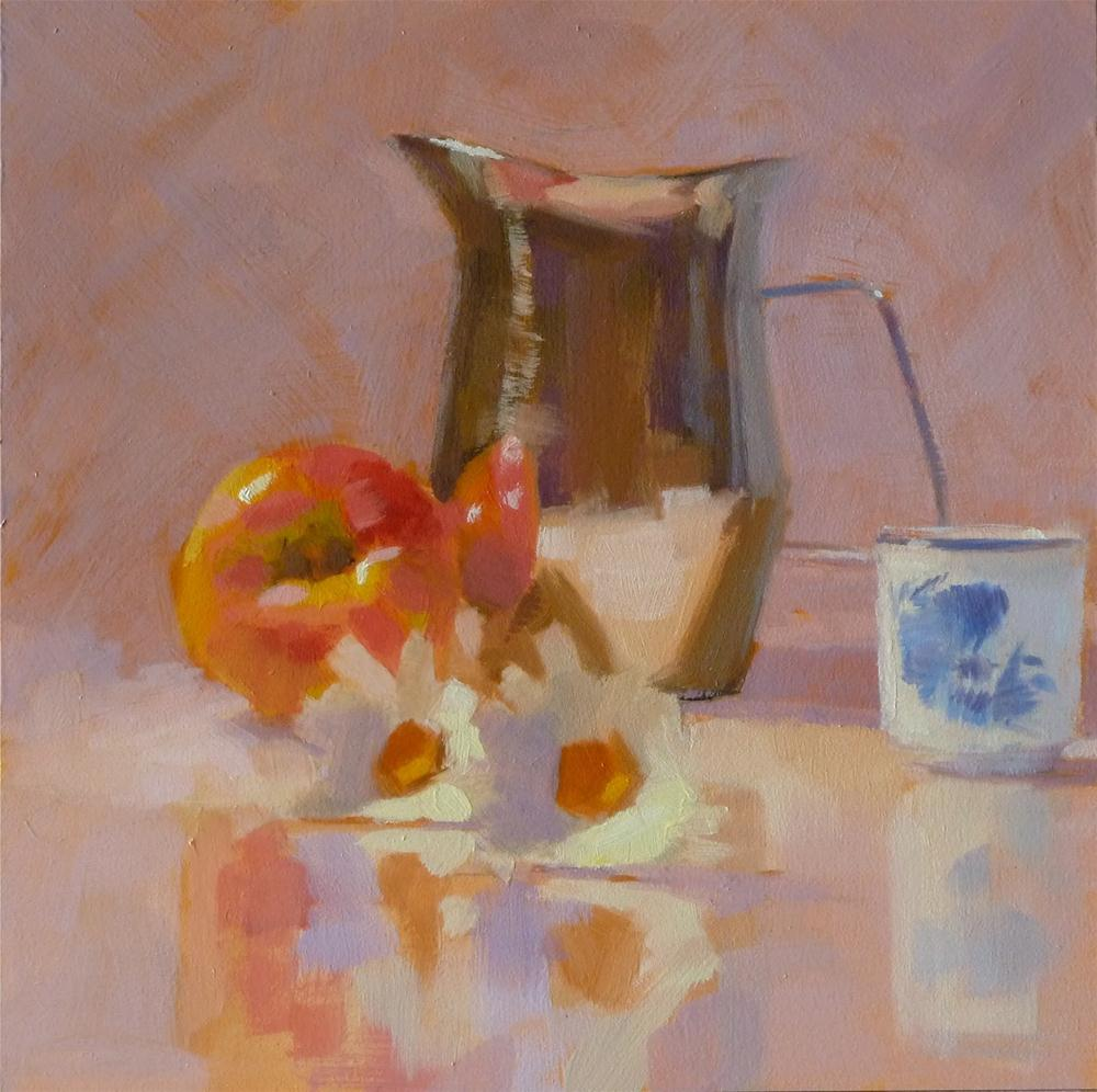 """Cream Pitcher & Pink Lady"" original fine art by Ron Ferkol"