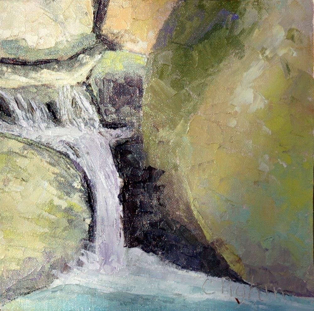 """Falling"" original fine art by Carol Pighin"