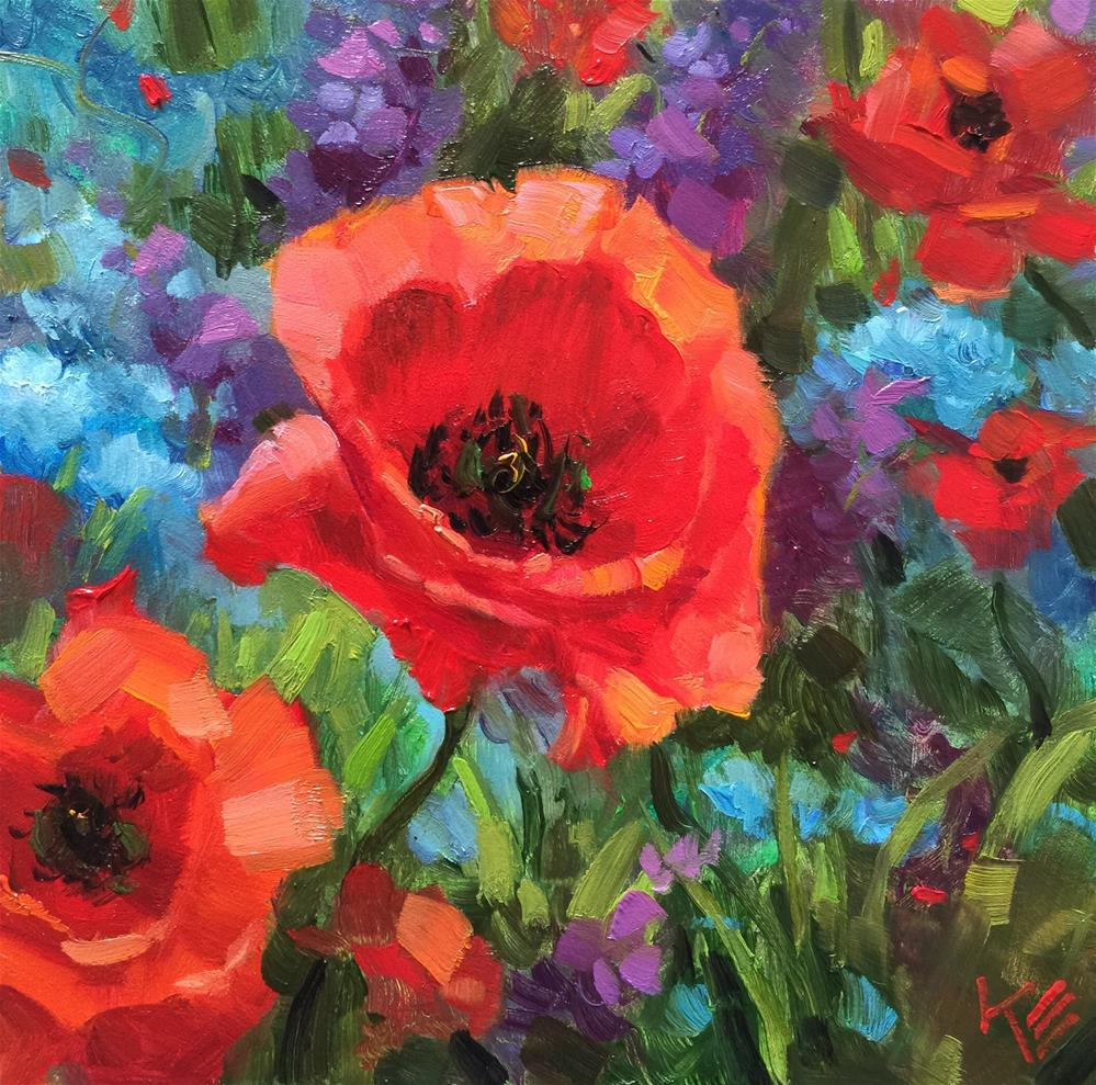 """Poppy Field"" original fine art by Krista Eaton"