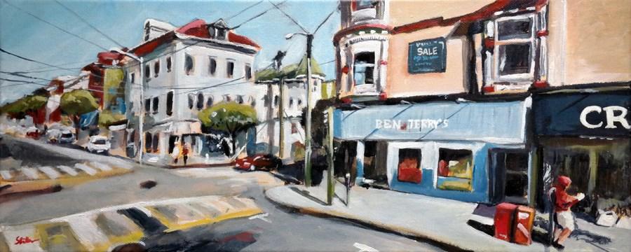 """1327 Ashbury right"" original fine art by Dietmar Stiller"