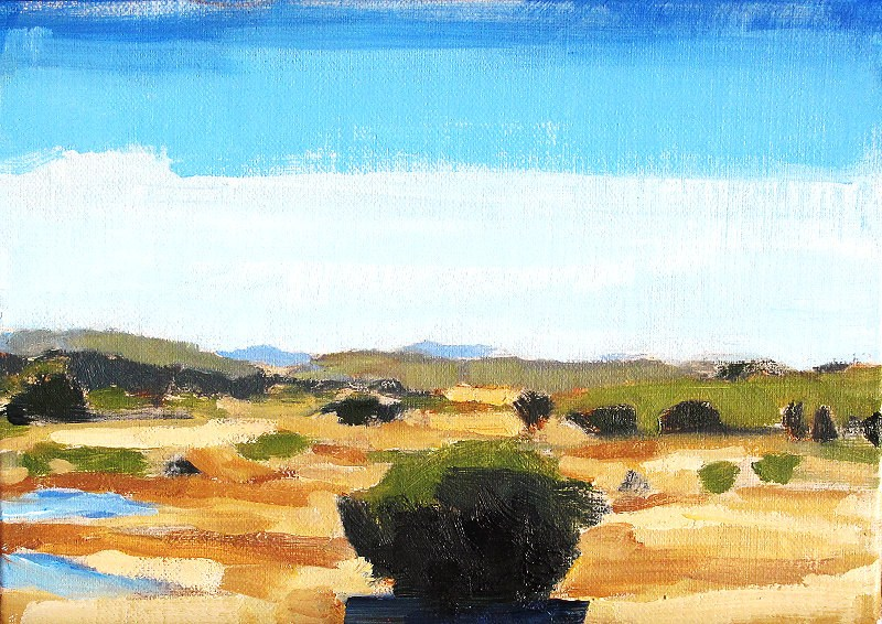 """East County San Diego Landscape"" original fine art by Kevin Inman"