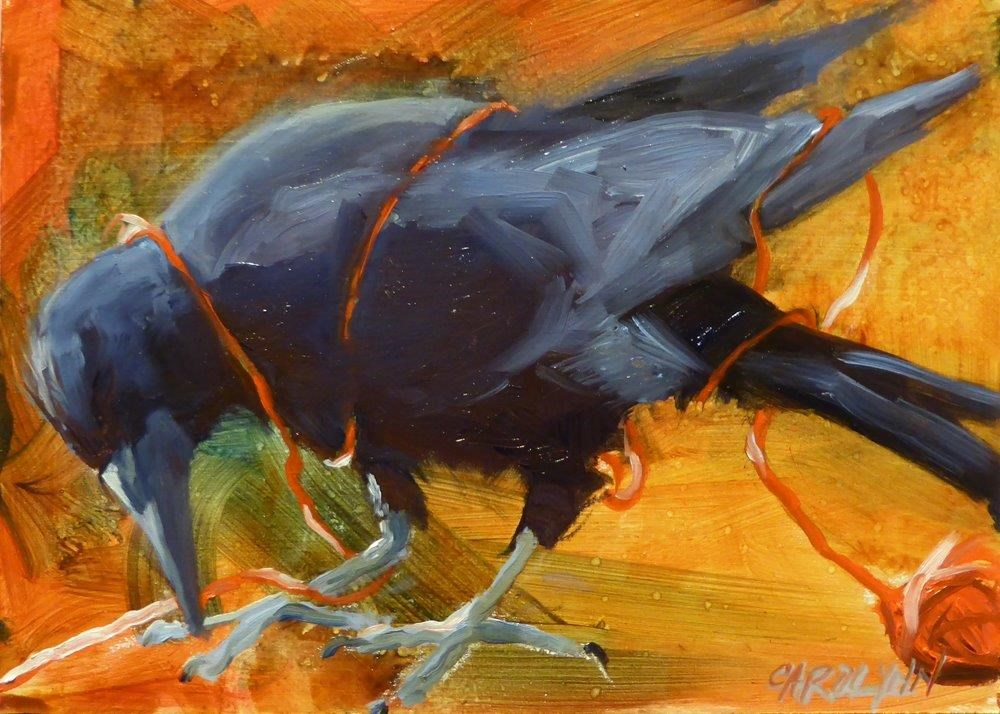 """No Longer A Ball"" original fine art by Carolynn Doan"