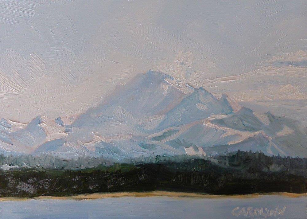 """Mount Baker, WA"" original fine art by Carolynn Doan"