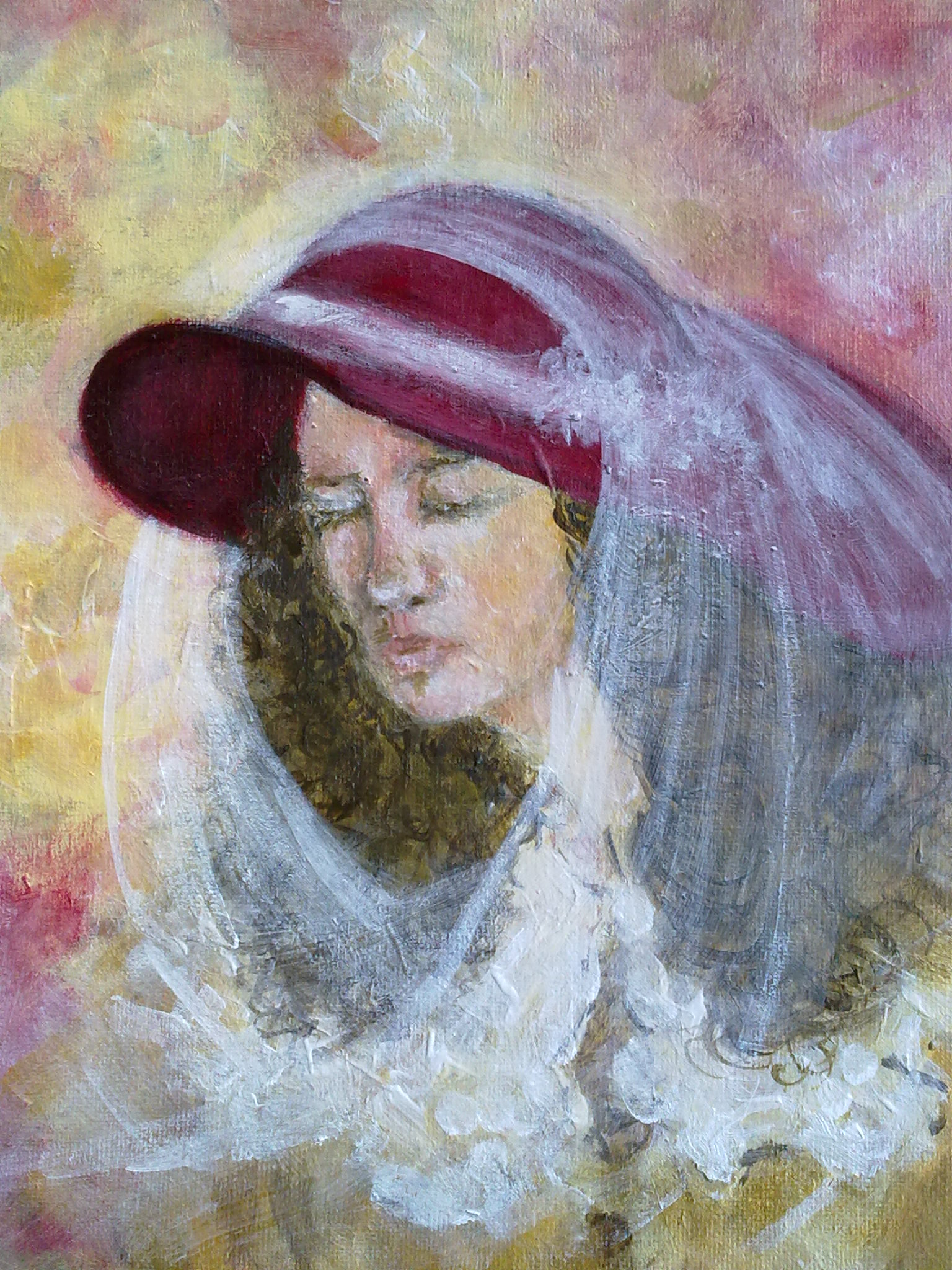 """Woman"" original fine art by Monica Pinotti"