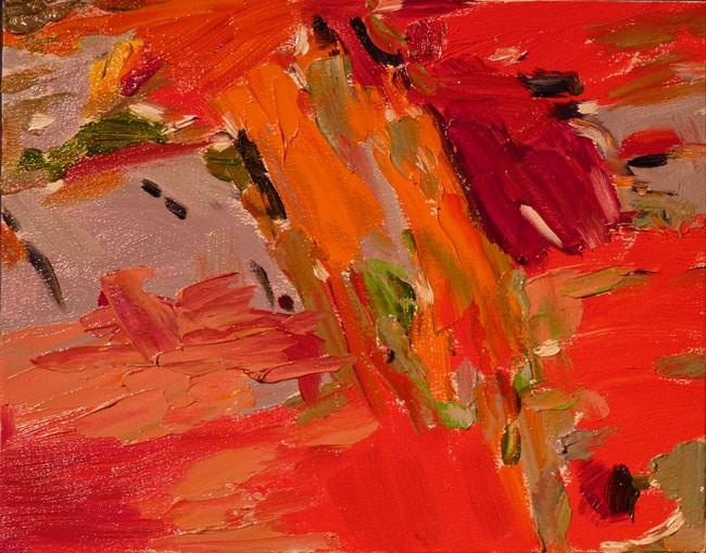 """Red Fire"" original fine art by Stan Chraminski"