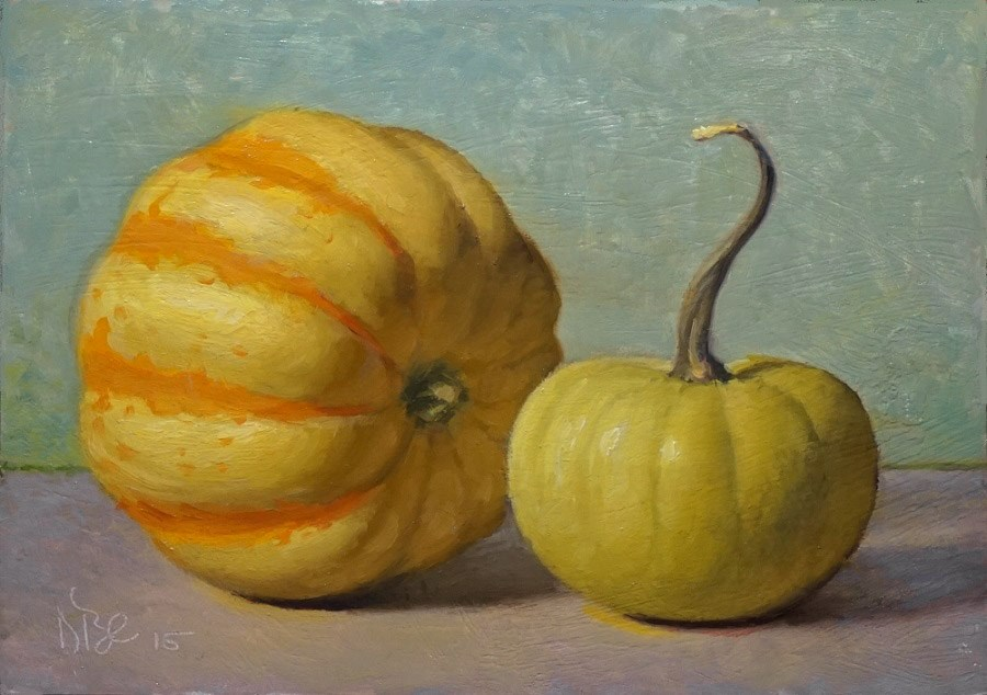 """Little Gourds"" original fine art by Debra Becks Cooper"