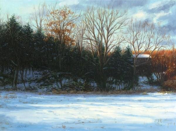 """Stillwater Evening"" original fine art by Danny O'Leary"