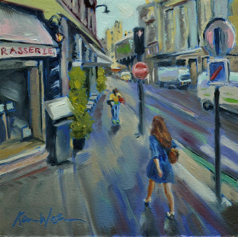 """Lady in Blue"" original fine art by Karen Weber"