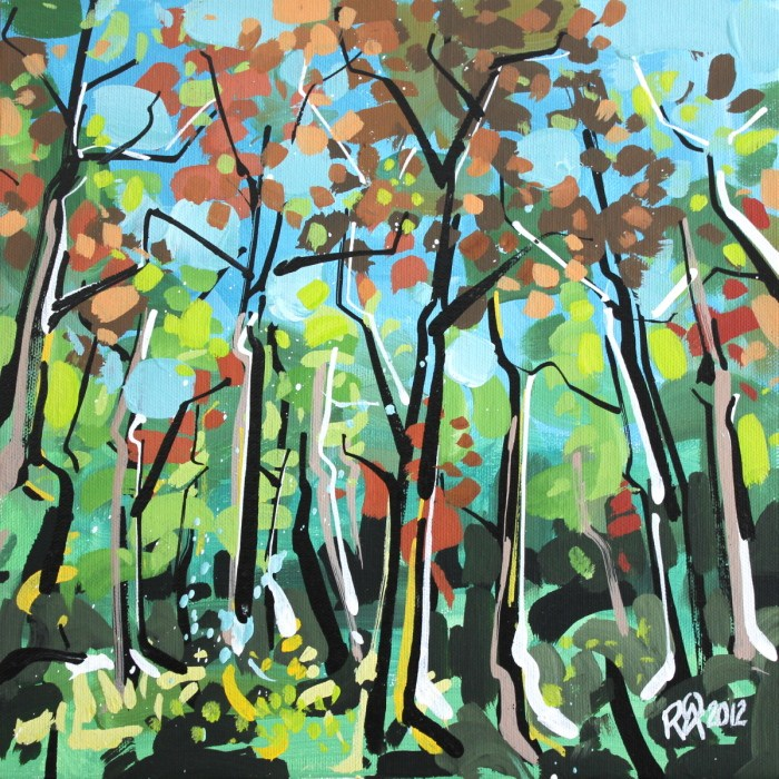 """""""In the forest 1"""" original fine art by Roger Akesson"""