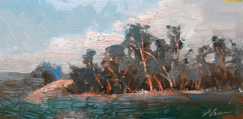"""Windblown Trees"" original fine art by Kelli Folsom"