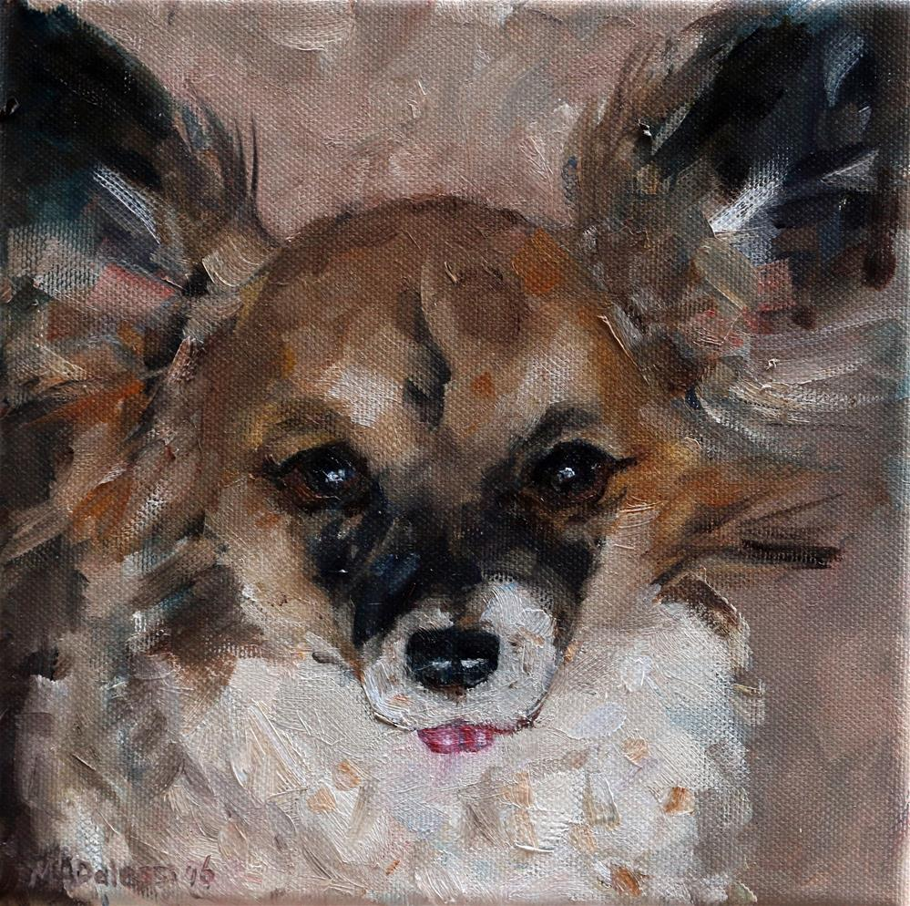 """Model dog"" original fine art by Miranda Dalessi"
